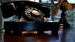 Film noir puhelin ja tuuletin Arkistovideo