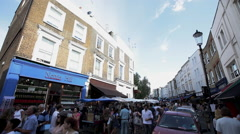 Notting Hill Portabello Market London UK 10 - stock footage