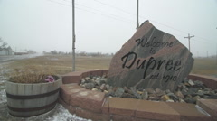Cheyenne River Reservation, 'the rez', in Dupree, SD Stock Footage