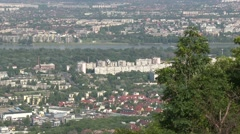 4K Budapest Hungary Aerial View 39 northern part Stock Footage