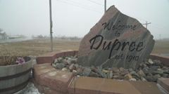 A windstorm on the Cheyenne River Indian Reservation in Dupree, S.D. Stock Footage