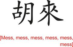 Chinese Sign for mess - stock illustration