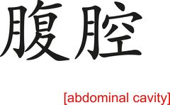 Chinese Sign for abdominal cavity Stock Illustration