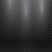 Vector abstract seamless metallic pattern with hexagon grille - stock illustration