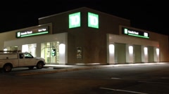 Stock Video Footage of td bank at night scene
