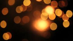 Firework out of focus - bokeh background Stock Footage