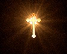 Heavenly Cross Stock Illustration