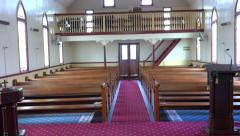 4k Old Church Hall - stock footage