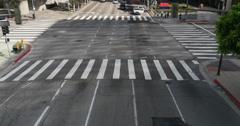 4K Street Traffic 05 LA Downtown Stock Footage