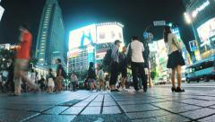 Shibuya Station foot traffic time lapse Stock Footage