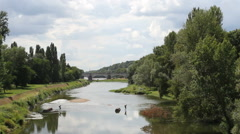 River Loire Tours, France Stock Footage