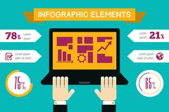 Technology Infographic Element Stock Illustration