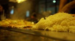 Teppanyaki Japanese restaurant 4 Stock Footage