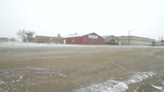 Ground blizzard pan to fire hydrant on Indian reservation Stock Footage