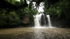 Haew Su Wat Waterfall tropical forest, Khao Yai National park. Stock Footage