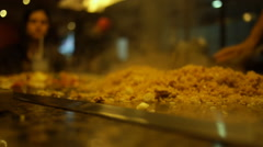 Stock Video Footage of Teppanyaki Japanese restaurant 3b