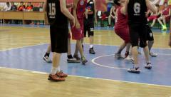 Counterattack at a Basketball Game Stock Footage