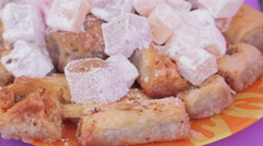 Oriental sweets Stock Footage