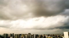 4k Ultra HD time lapse video of skyline on a gloomy day, Singapore(TL-CLOUD 99) Stock Footage