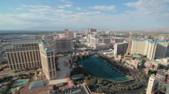 Las Vegas strip wide view day to night time-lapse Stock Footage