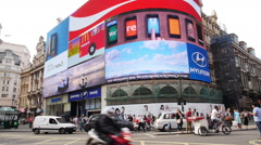 Picadilly Circus, London Stock Footage