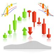 Commodity, forex trading vector Stock Illustration