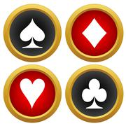 Playing card's icons vector Stock Illustration
