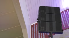 Speaker Line Array - Point Source Stock Footage