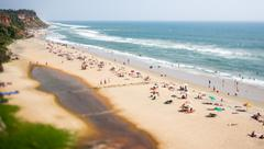 Timelapse beach on the indian ocean. india (tilt shift lens). Kuvituskuvat