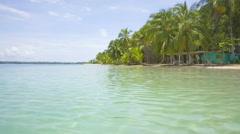 Starfish beach on the archipelago Bocas del Toro, Panama - stock footage