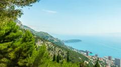 Monaco Montecarlo, 4k panoramic time-lapse - stock footage