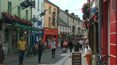 Street scene in Galway, Ireland - stock footage