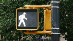Manhattan Walk Don't Walk Sign Stock Footage