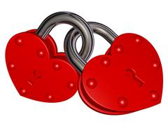 Locks of love Stock Illustration