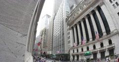 4K Wall Street New York Stock Exchange Establishing Shot - stock footage