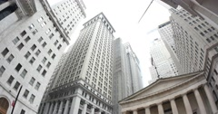 4K Wall Street Federal Building Establishing Shot - stock footage