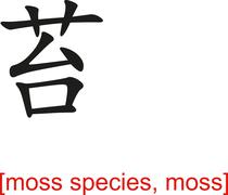 Chinese Sign for moss species, moss Stock Illustration
