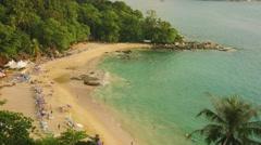 Laem sing beach, phuket island, thailand. top view Stock Footage