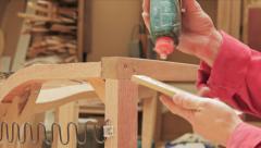 Gluing Wood Stock Footage