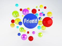 friend sign. social network  concept. - stock illustration