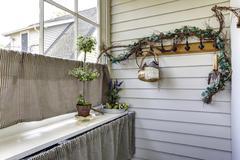 Stock Photo of hallway window treatment idea
