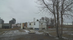 Stock Video Footage of Indian reservation trailer house