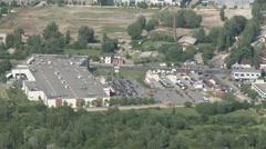 4K Suburban Tesco Supermarket Aerial View Stock Footage