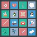 Medicine flat icons set Stock Illustration