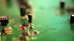 Stock Video Footage of Computer chip.