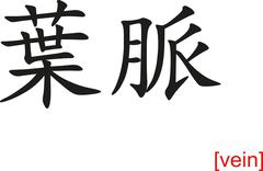 Stock Illustration of Chinese Sign for vein