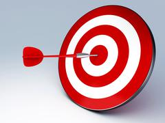 Red dart hitting the target Stock Illustration
