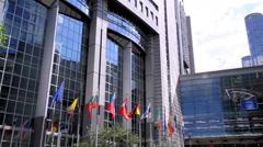 European parliament. Stock Footage