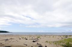 lake superior shoreline - stock photo