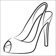 woman's shoe - stock illustration